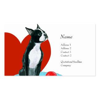 Tarjeta del perfil - Boston Terrier Tarjetas De Visita
