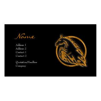 Tarjeta del perfil - caballo metálico tarjetas de visita