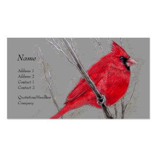 Tarjeta del perfil - cardenal rojo tarjetas de visita