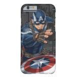 Tarjeta del perfil de capitán América Funda De iPhone 6 Barely There