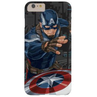 Tarjeta del perfil de capitán América Funda De iPhone 6 Plus Barely There