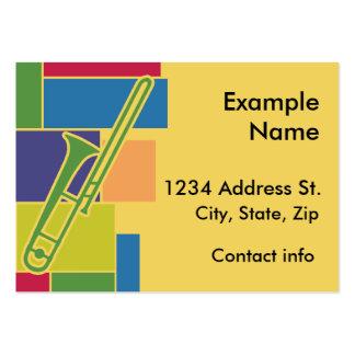Tarjeta del perfil de Colorblocks del Trombone Plantilla De Tarjeta Personal