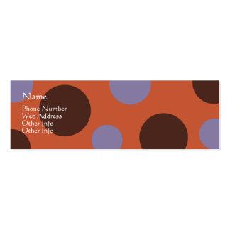 Tarjeta del perfil de Deco A2 Plantilla De Tarjeta De Negocio