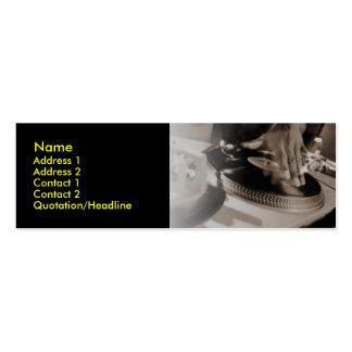Tarjeta del perfil de DJ Tarjetas De Visita Mini