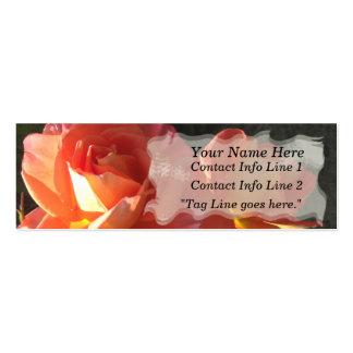Tarjeta del perfil de dos floraciones plantillas de tarjetas de visita