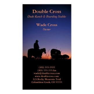 Tarjeta del perfil de Dude Ranch Tarjetas De Visita