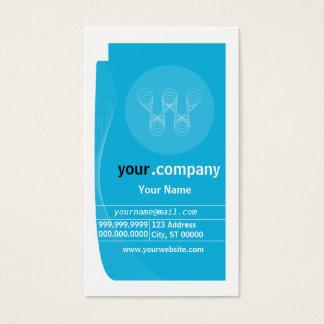 Tarjeta del perfil de empresa de negocios tarjetas de visita