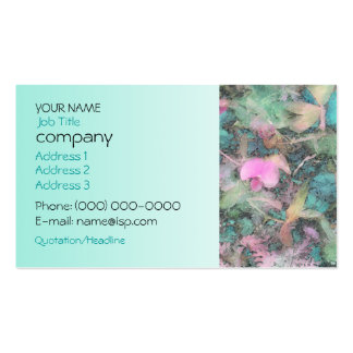 Tarjeta del perfil de la aguamarina de los tarjetas de visita