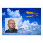 Tarjeta del perfil de la aviación de Joe Tarjeta De Visita