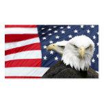 Tarjeta del perfil de la bandera americana de las  tarjetas de visita