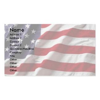 Tarjeta del perfil de la bandera de los E.E.U.U. Plantilla De Tarjeta De Negocio