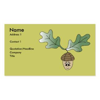 Tarjeta del perfil de la bellota tarjetas de visita