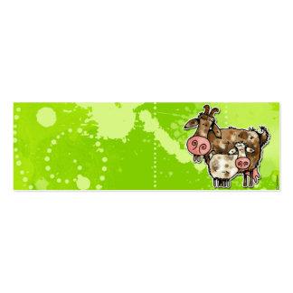 tarjeta del perfil de la cabra de la niñera tarjetas de visita mini