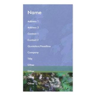 Tarjeta del perfil de la cala tarjetas de visita