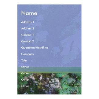 Tarjeta del perfil de la cala tarjetas de visita grandes
