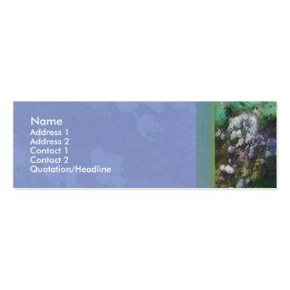 Tarjeta del perfil de la cala tarjetas de visita mini