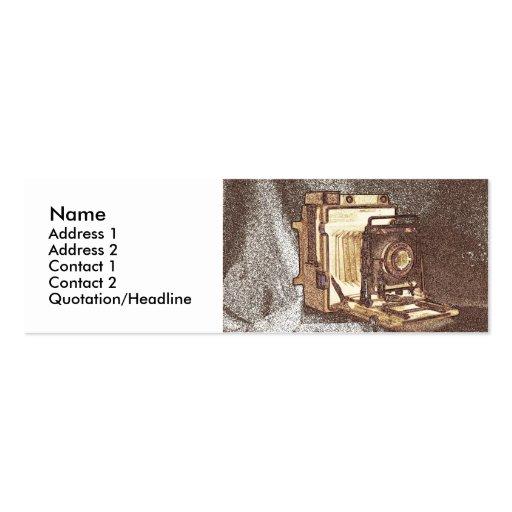 Tarjeta del perfil de la cámara del vintage tarjetas de visita mini