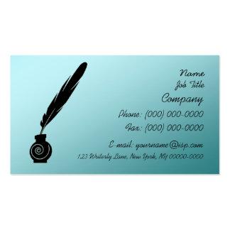 Tarjeta del perfil de la canilla y de la tinta del tarjetas de visita