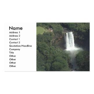 Tarjeta del perfil de la cascada plantilla de tarjeta de negocio