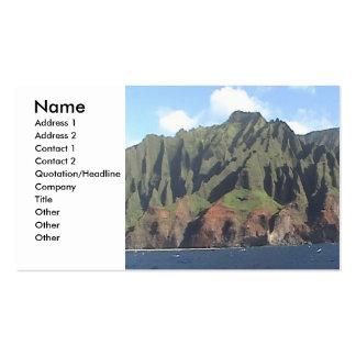 Tarjeta del perfil de la costa de Napali Tarjetas De Visita