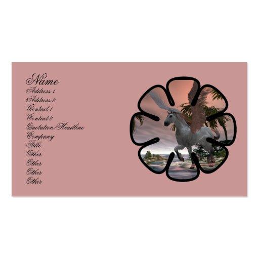 Tarjeta del perfil de la ensenada de Pegaso Tarjetas De Visita