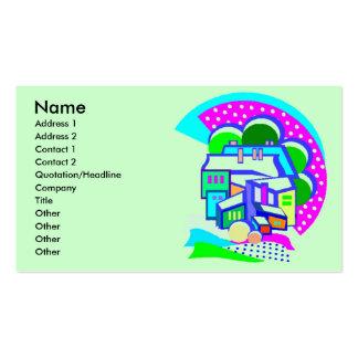 Tarjeta del perfil de la fábrica tarjetas de visita