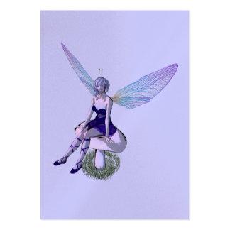 tarjeta del perfil de la fantasía del faery tarjetas de visita grandes