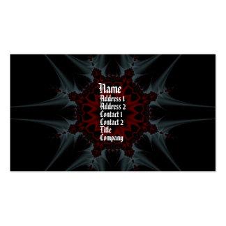 Tarjeta del perfil de la fantasía del fractal de G Tarjetas De Visita