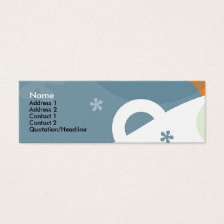 Tarjeta del perfil de la felicidad tarjetas de visita mini