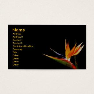 Tarjeta del perfil de la flor salvaje tarjetas de visita