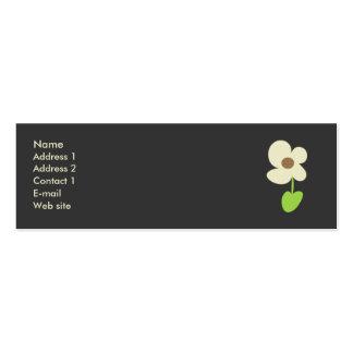 Tarjeta del perfil de la flor - tarjeta social del plantillas de tarjetas personales