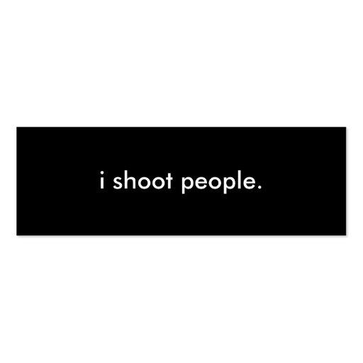 Tarjeta del perfil de la fotografía tarjeta personal