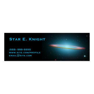 Tarjeta del perfil de la galaxia del sombrero tarjetas de visita mini