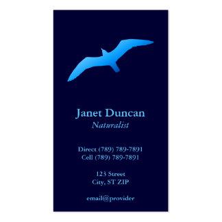 Tarjeta del perfil de la gaviota del vuelo tarjetas de visita