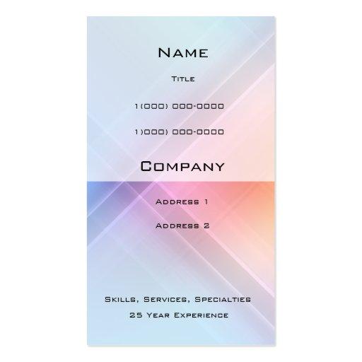 Tarjeta del perfil de la geometría del espectro tarjetas de visita