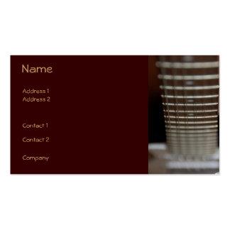 Tarjeta del perfil de la guitarra tarjetas de visita