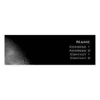Tarjeta del perfil de la luna tarjetas de visita mini