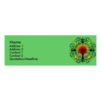 Tarjeta del perfil de la madre tierra tarjetas de visita mini