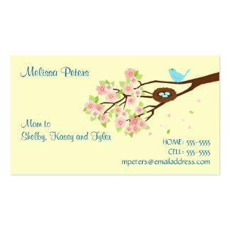 Tarjeta del perfil de la mamá de la flor de cerezo tarjetas de visita