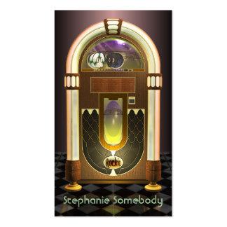 Tarjeta del perfil de la máquina tocadiscos tarjetas de negocios