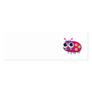 Tarjeta del perfil de la mariquita plantillas de tarjetas de visita
