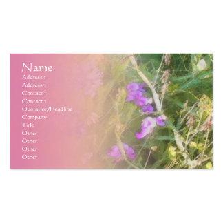 Tarjeta del perfil de la mezcla del rosa de los gu plantilla de tarjeta de negocio