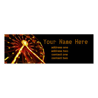 Tarjeta del perfil de la noria tarjeta de visita