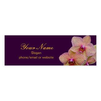 Tarjeta del perfil de la orquídea tarjetas de visita mini