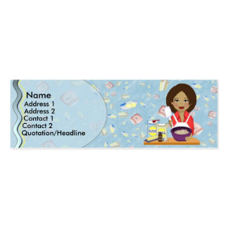 Tarjeta del perfil de la panadería tarjeta de visita