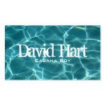 Tarjeta del perfil de la piscina tarjetas de visita