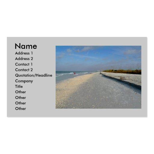 Tarjeta del perfil de la playa tarjeta de visita
