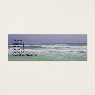 Tarjeta del perfil de la playa tarjetas de visita mini