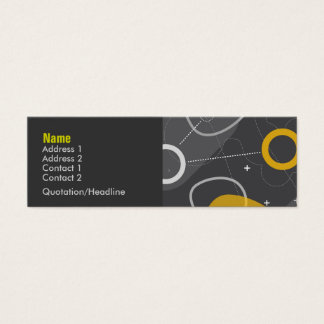 Tarjeta del perfil de la raza del espacio tarjetas de visita mini