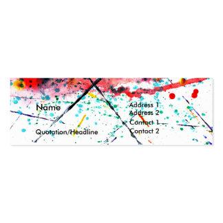Tarjeta del perfil de la salpicadura tarjetas de visita mini